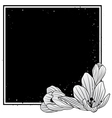 frame with flowers of crocus vector image vector image