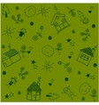 House set garden doodle art vector image