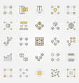 blockchain colorful icons vector image
