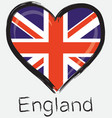 love England flag vector image