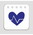 Doodle HEART RATE icon vector image