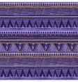 dark color tribal Navajo seamless pattern aztec vector image