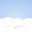 bright cloud background vector image
