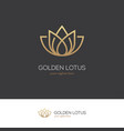 golden lotus logo vector image