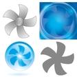 set of fan elements vector image vector image