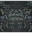 Chalk Drawing Floral Design Elements vector image vector image