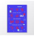 Abstract Cyber Monday Sale Poster Minimal vector image