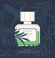 classic retro bottle of perfume on a tropical vector image