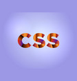 css concept colorful word art vector image