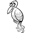 exotic bird cartoon coloring page vector image