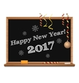 Happy New Year 2017 Christmas design vector image