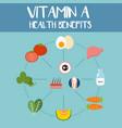 health benefits of vitamin a vector image