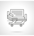 Hospital bed flat line icon vector image