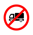 No truck or no parking sign on white background vector image