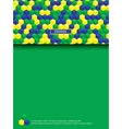 Page with brazilian colors vector image