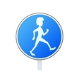 Pedestrian road sign icon cartoon style vector image