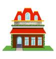 restaurant facade isolated icon vector image