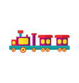 steam kids train from amusement park vector image