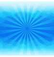 Sunburst and blue sky cloud background vector image