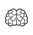 Brain Logo Icon on White Background vector image vector image
