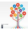Abstract education background with icons vector image