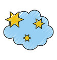 cloud with stars weather icon vector image vector image