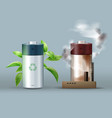 ecological friendly battery vector image