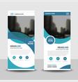 blue curve business roll up banner flat design vector image