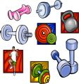 weights and dumbbell vector vector image