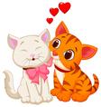 Cartoon cat licking vector image vector image