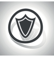 Shield sign sticker curved vector image