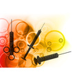 syringe silhouettes vector image vector image