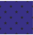 Tile pattern with black stars on blue background vector image