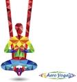 Aero Yoga Image of triangles vector image