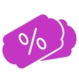 Discount Coupons Icon vector image