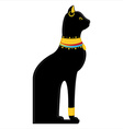 Egyptian cat vector image