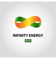 Infinity energy logo Eco energy vector image