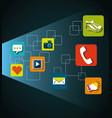 menu applications design vector image