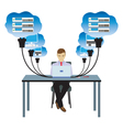 Network cloud technology vector image