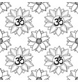 om and lotus seamless pattern vector image