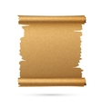 Realistic vertical paper ancient scroll vector image