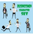 Set of businessman characters poses vector image