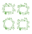 Set of green round and square frames vector image