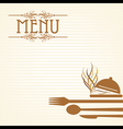 template for menu card with cutler vector image