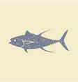 tuna fish flat icon vector image