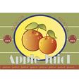 apple juice label vector image vector image
