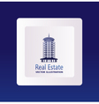 Real estate logo eco home vector image vector image