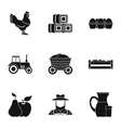 Estate icons set simple style vector image
