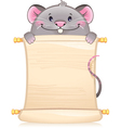 Rat with scroll - symbol of Chinese horoscope vector image