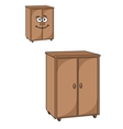 Two wooden cupboards vector image vector image